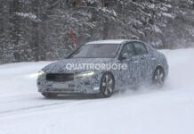 Mercedes Classe C 2021 Nord Europa foto spia