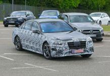 Mercedes Classe S 2021 Stoccarda foto spia