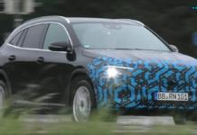 Mercedes EQA nuove foto spia