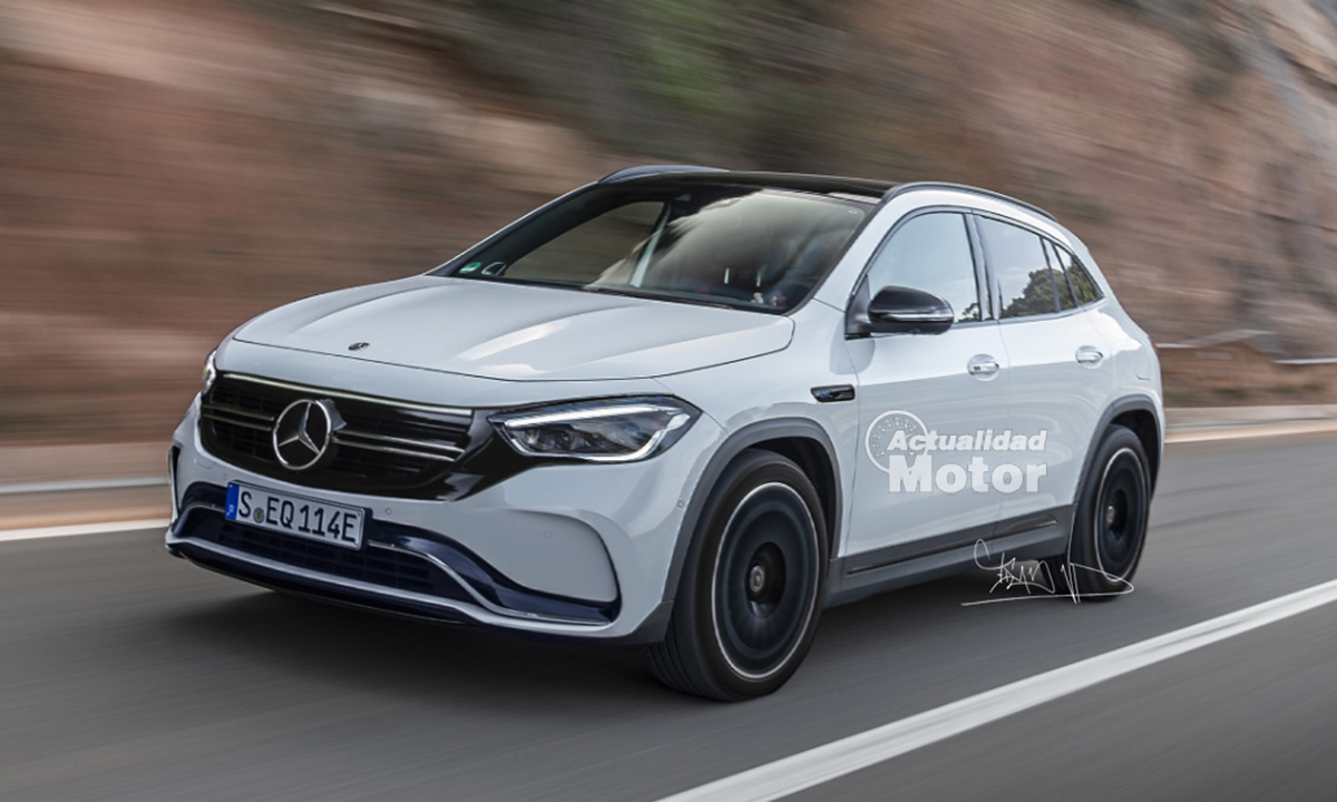 Mercedes EQA render