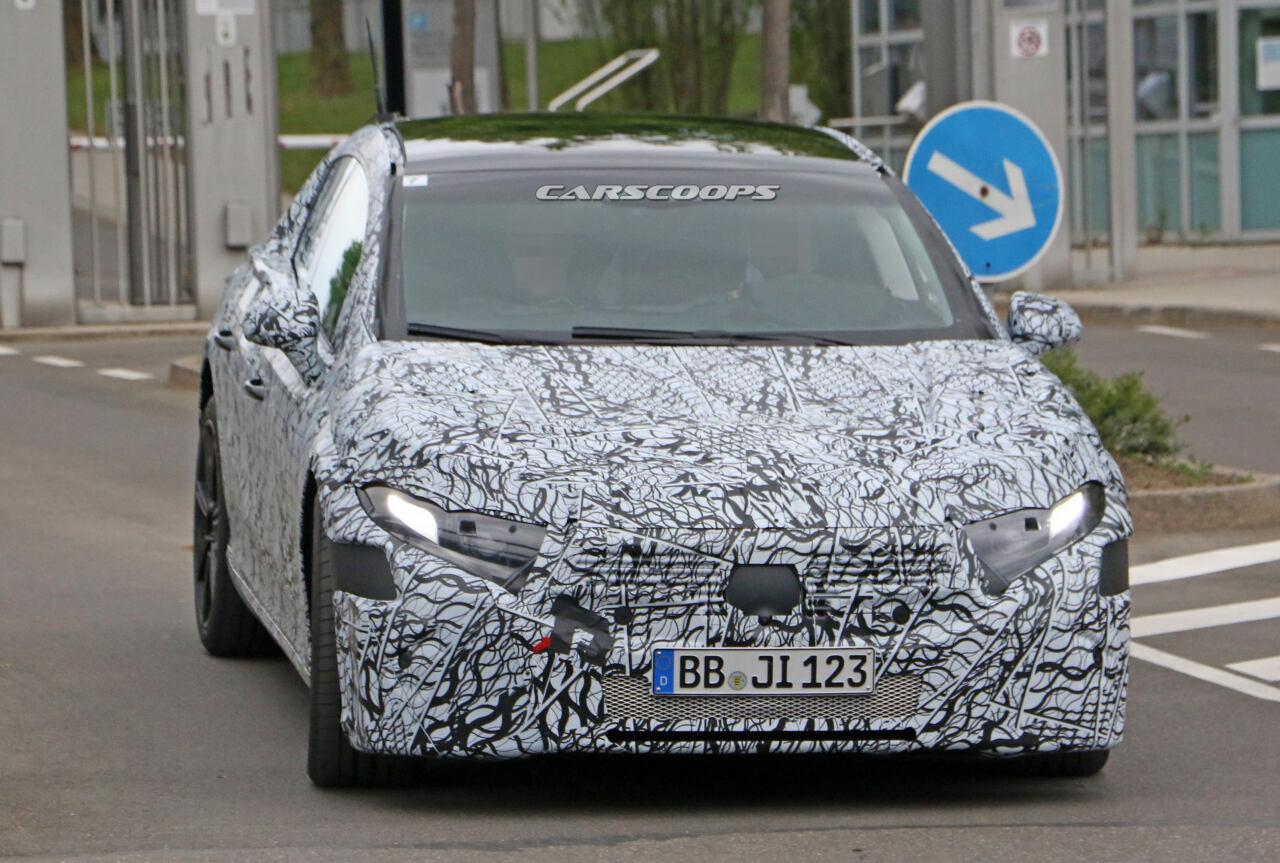 Mercedes EQS foto spia Germania