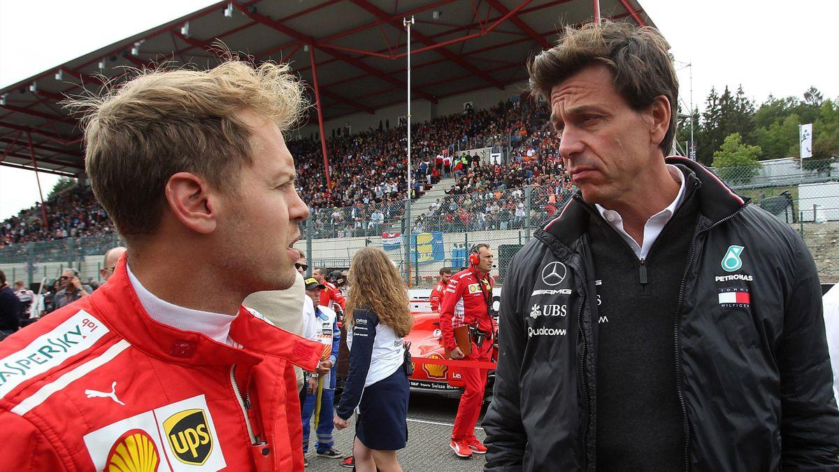 Wolff e Vettel
