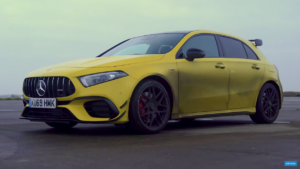 Mercedes-AMG A 45 S vs BMW M8 Competition drag race