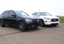 Mercedes-AMG GLC 43 vs Infiniti QX50 drag race