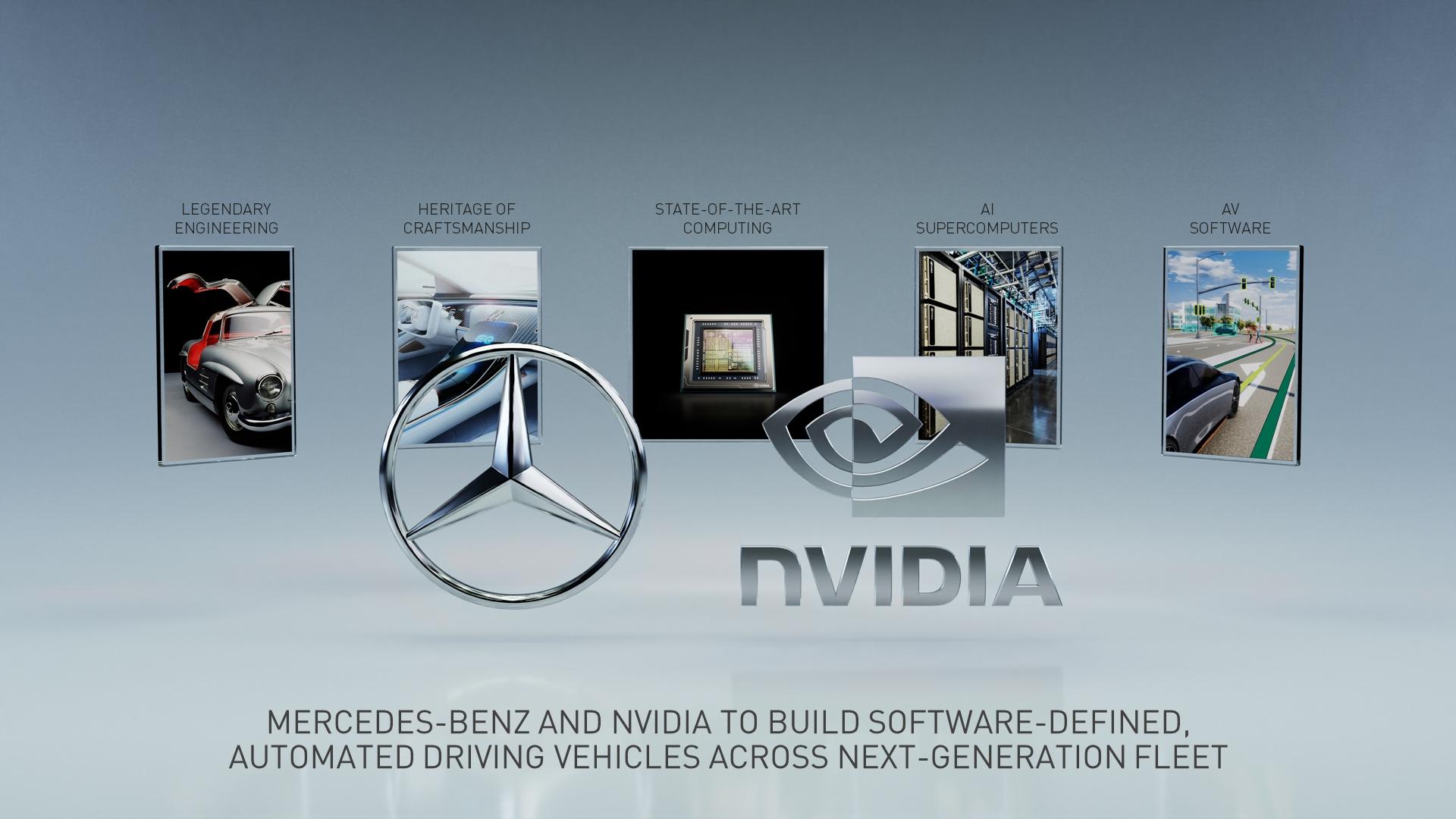 Mercedes NVIDIA guida autonoma