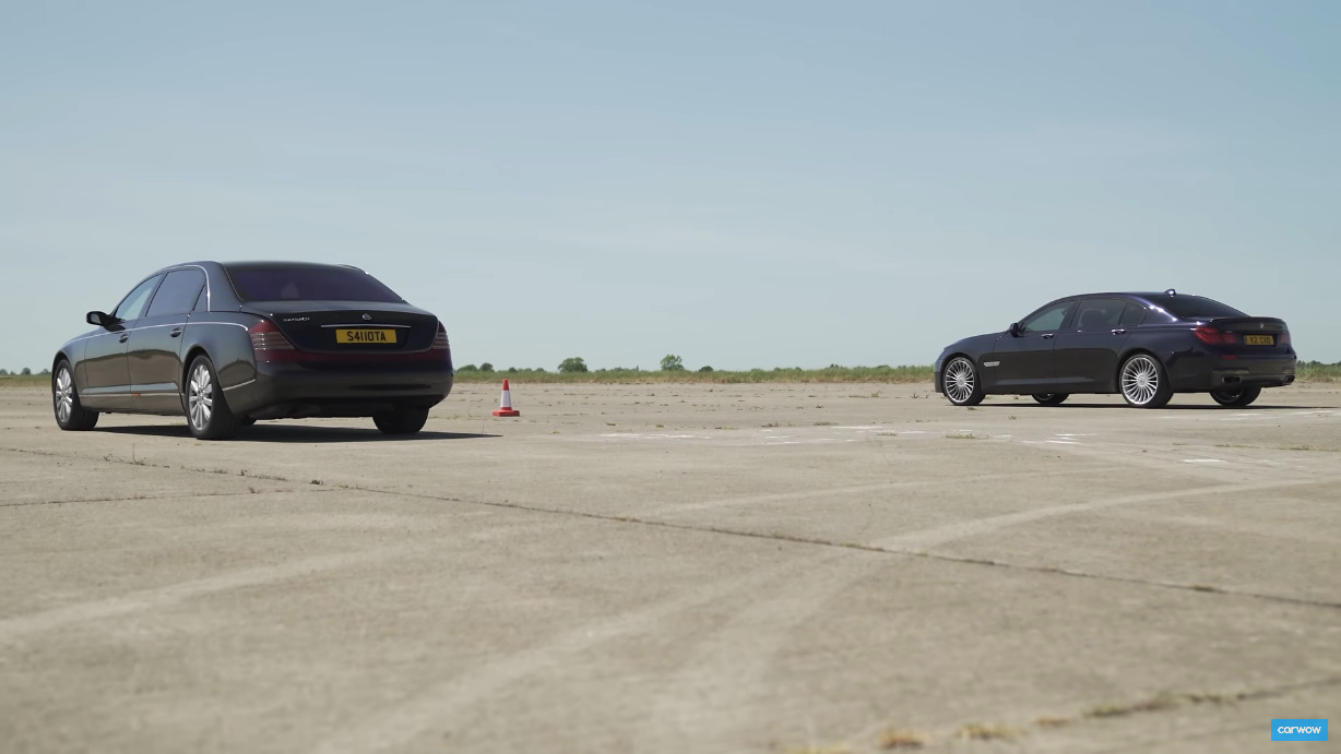 Maybach 62 vs BMW 760Li Carwow