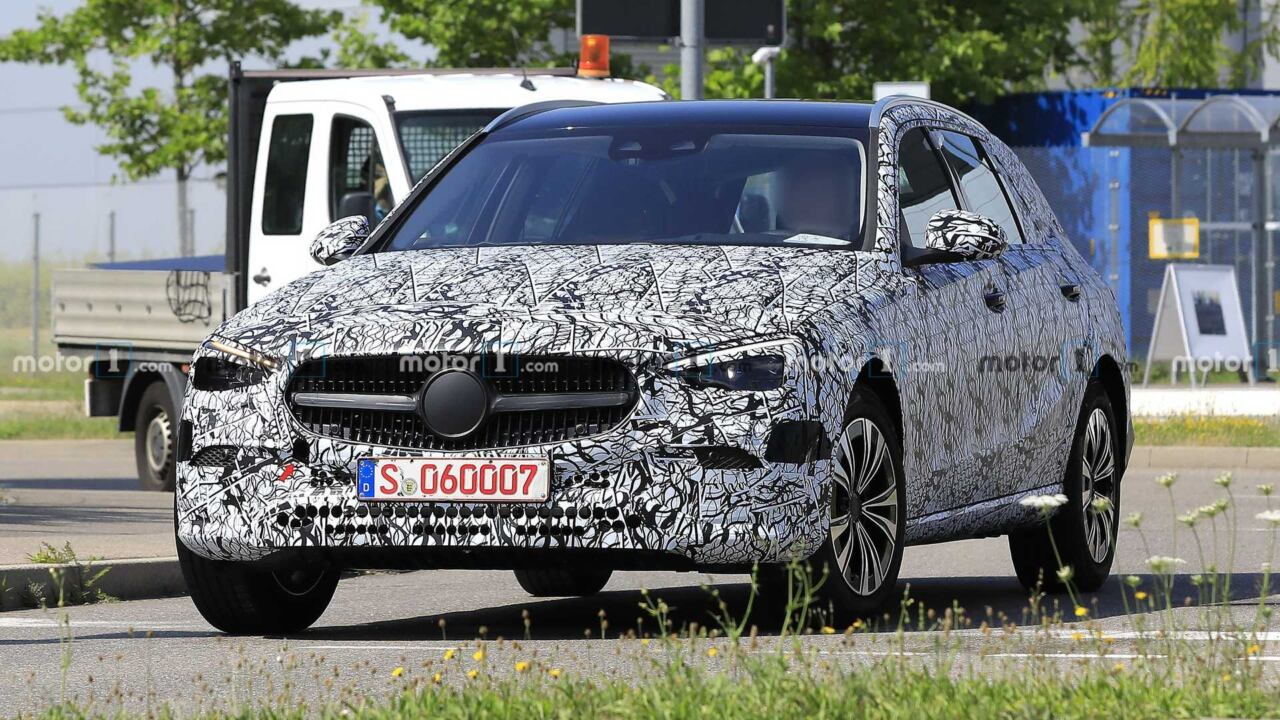 Mercedes Classe C Wagon 2021 foto spia