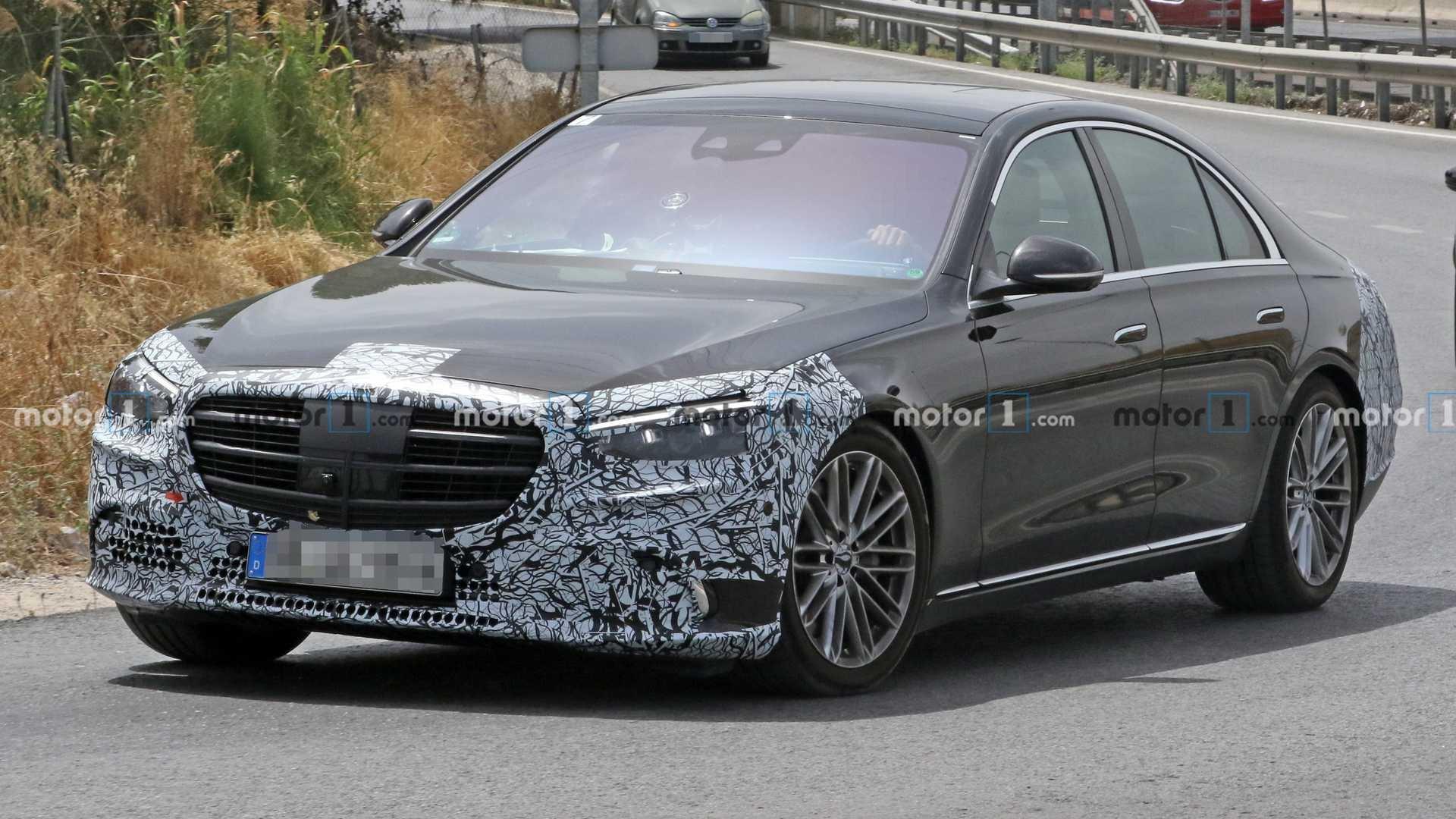 Mercedes Classe S 2021 foto spia Germania
