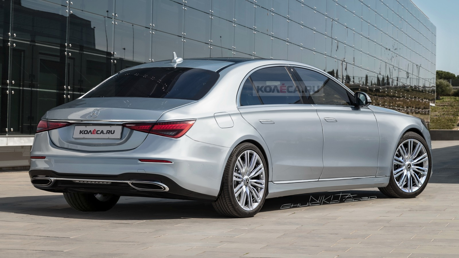 Mercedes Classe S 2021 render Kolesa