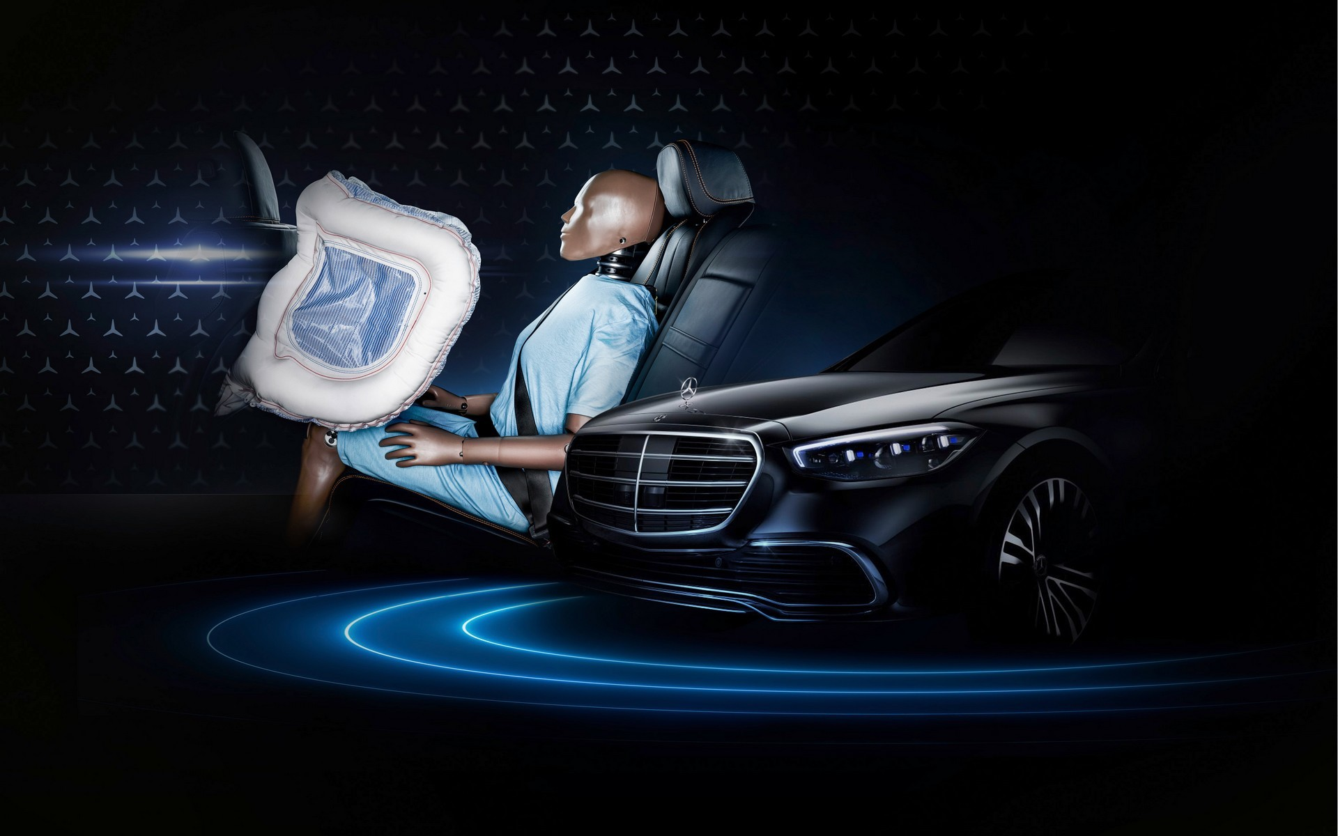 Mercedes Classe S 2021 airbag sedili posteriori