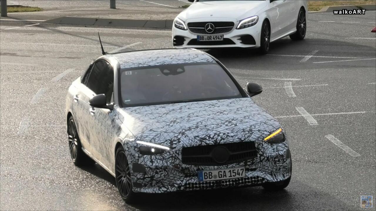 Mercedes Classe C 2021 AMG foto spia
