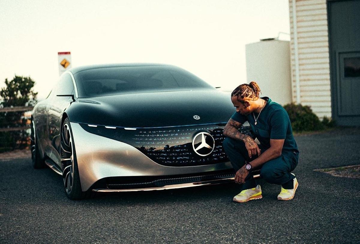 Lewis Hamilton Mercedes EQS