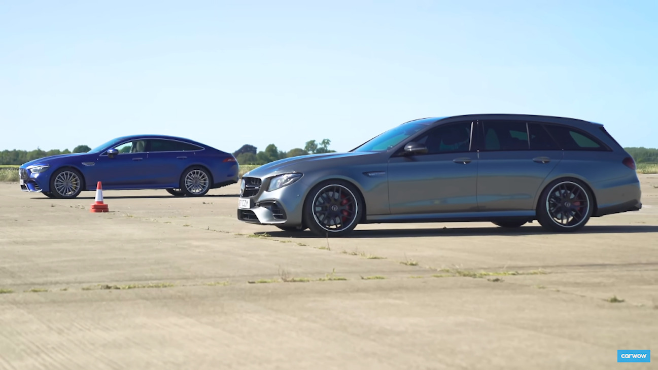 Mercedes-AMG E 63 S Wagon vs GT 63 S drag race
