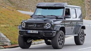 Mercedes-Benz G500 4×4² nuove foto spia