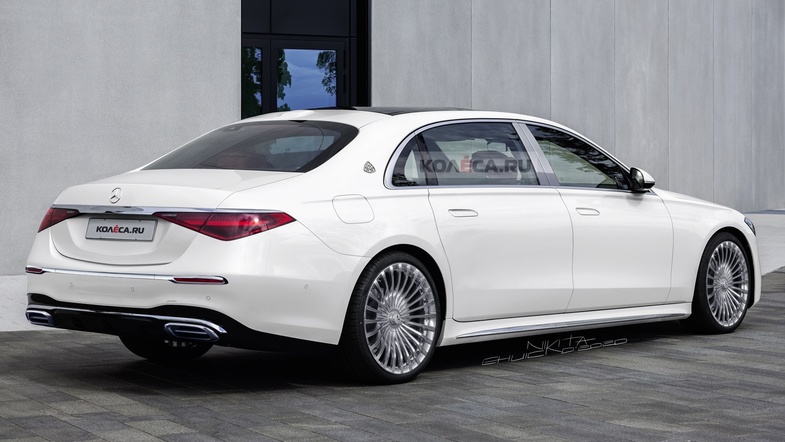 Nuova Mercedes-Maybach Classe S render