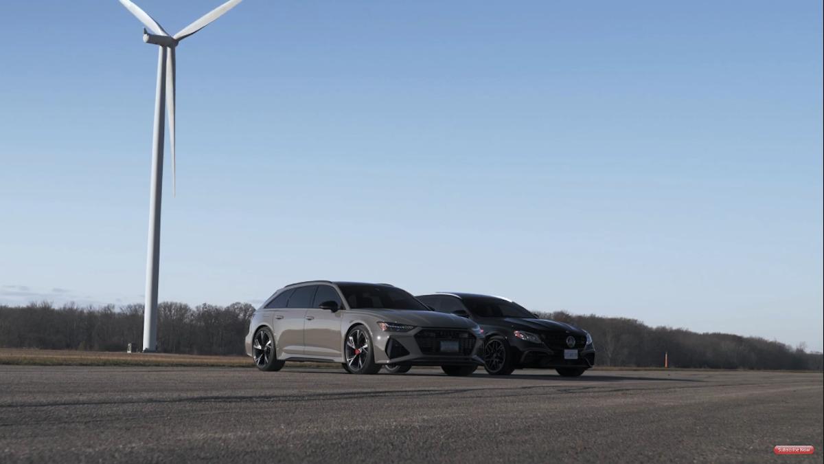 Mercedes-AMG E 63 S vs Audi RS6 Avant drag race
