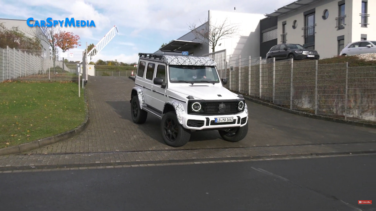 Mercedes-Benz G500 4×4² Nurburgring foto spia video