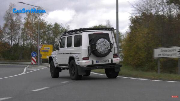 Mercedes-Benz G500 4×4² Nurburgring foto spia video