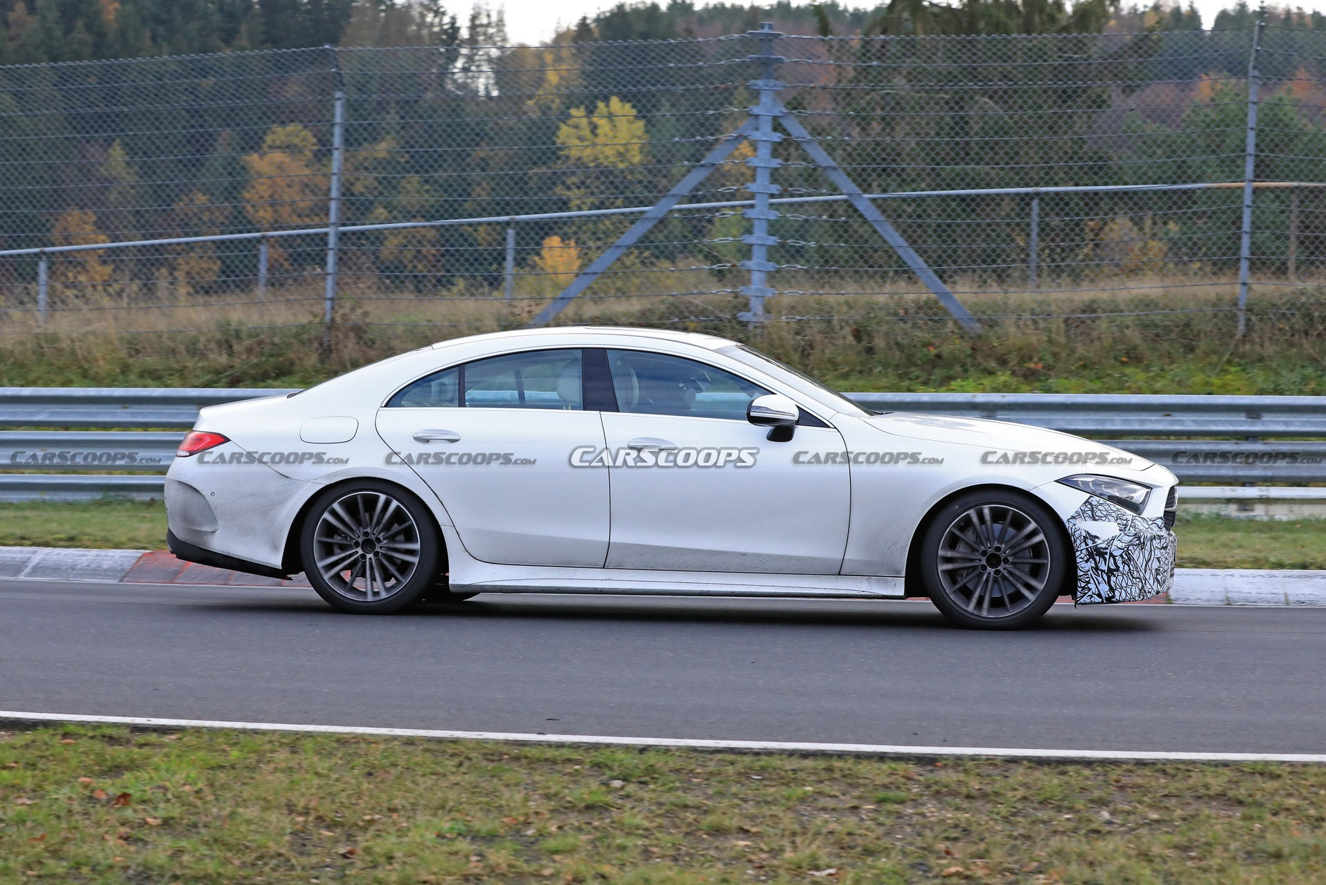 Mercedes CLS restyling prototipo foto spia