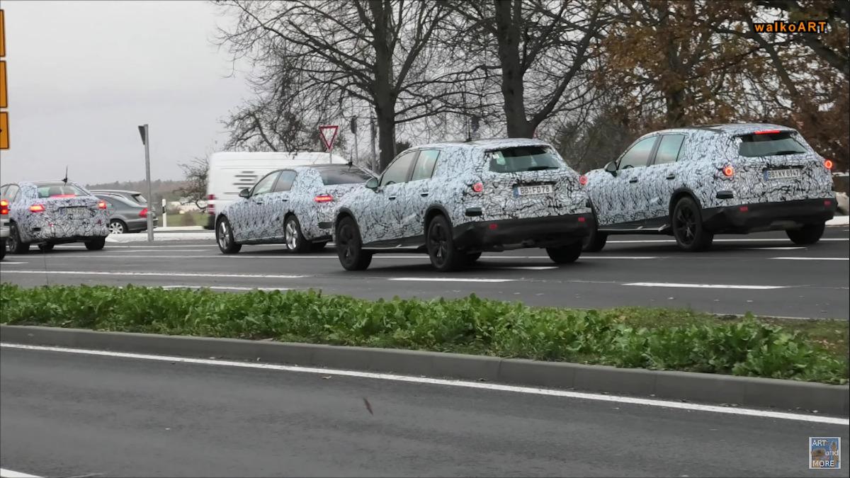 Mercedes Classe C e GLC 2022 foto spia