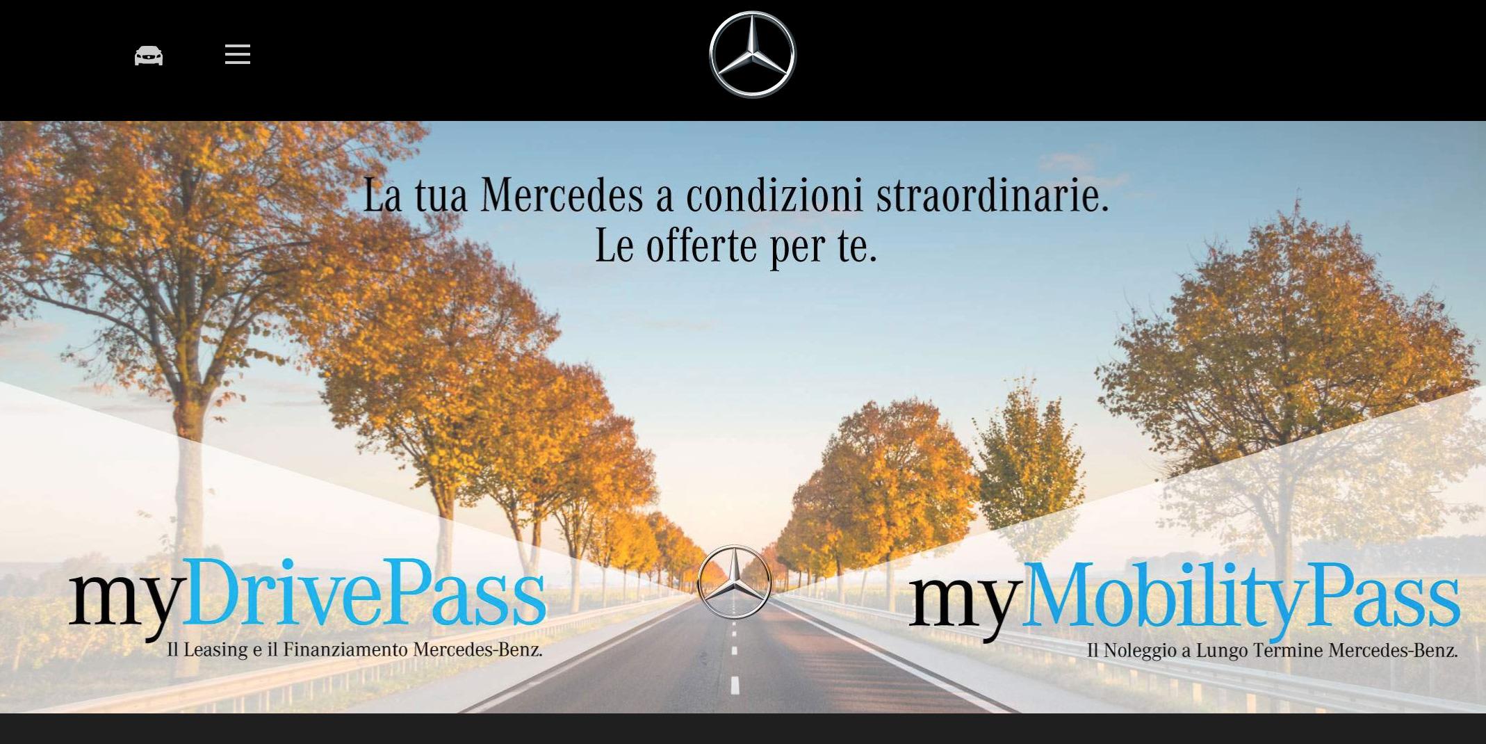Mercedes Classe C in leasing promozione ad anticipo zero