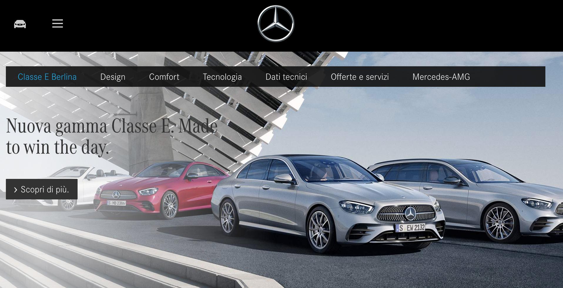 Mercedes Classe E in leasing