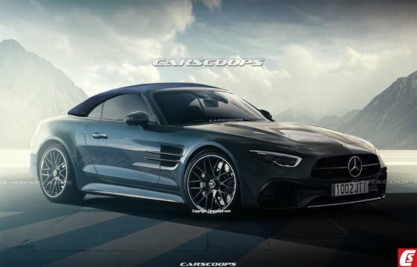 Mercedes SL 2022 render