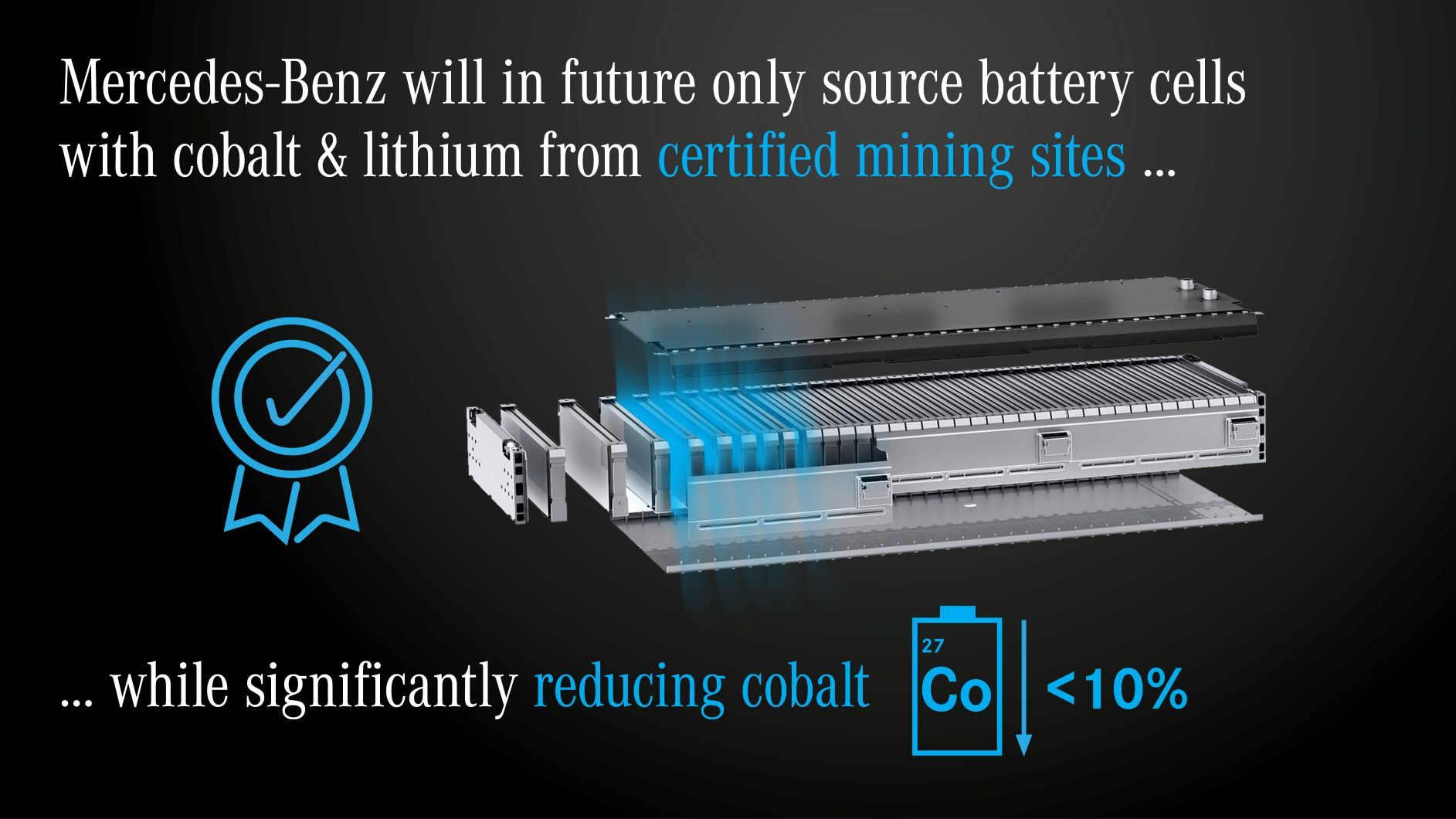 Mercedes cobalto litio minerari certificati