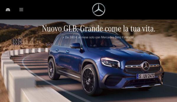 Promozione novembre 2020 Mercedes GLB in leasing