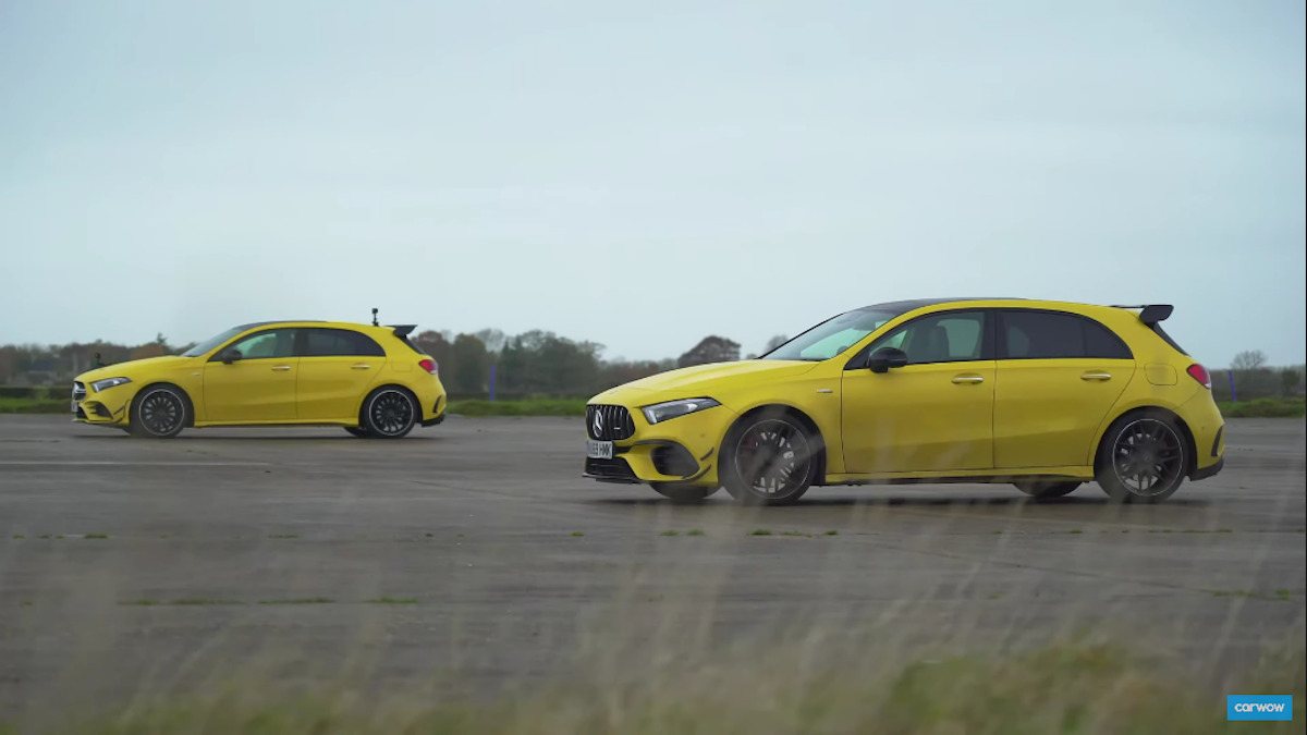 Mercedes AMG A 45 vs A 35 drag race