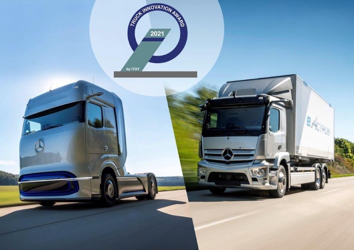 Mercedes eActros e GenH2 Truck si aggiudicano il Truck Innovation Award 2021
