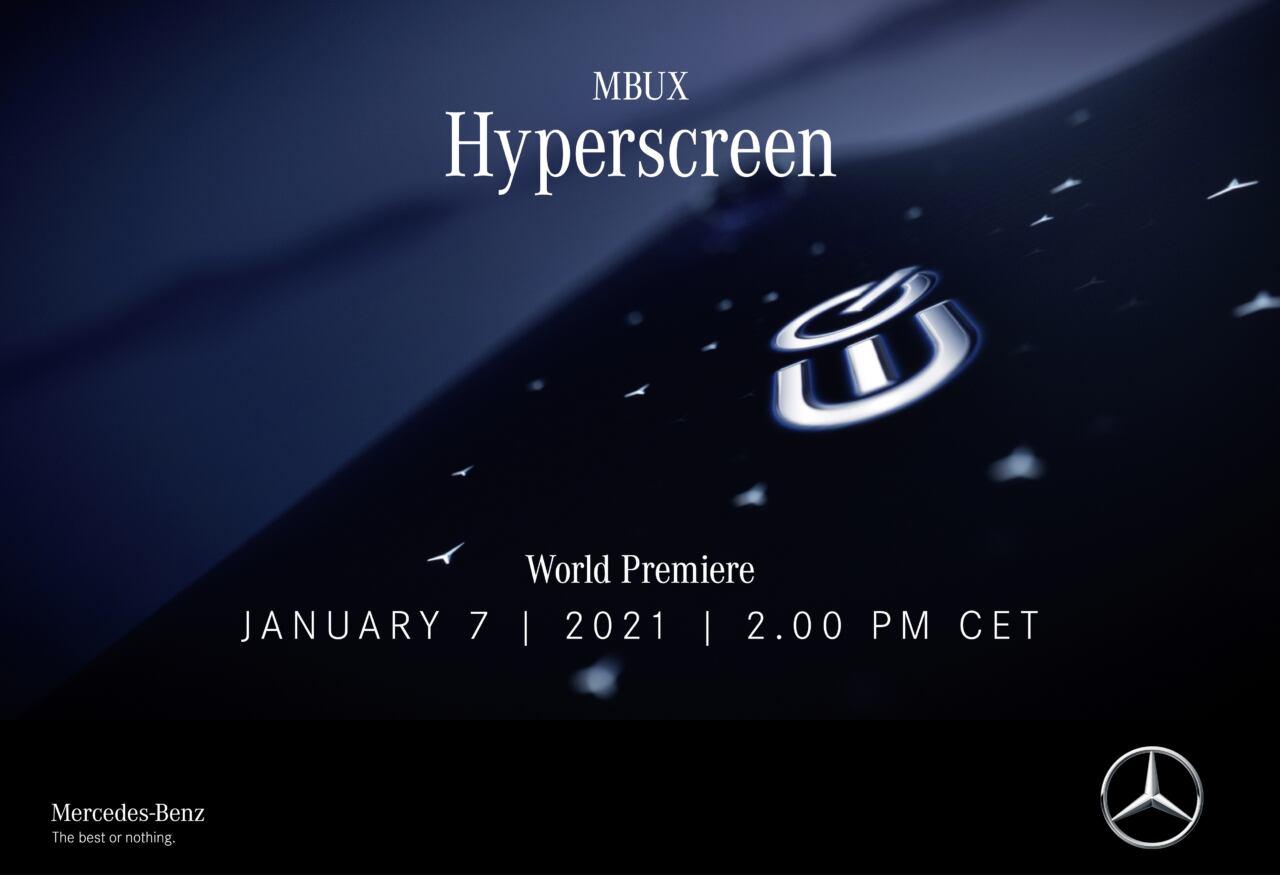 Nuova Mercedes EQS MBUX Hyperscreen