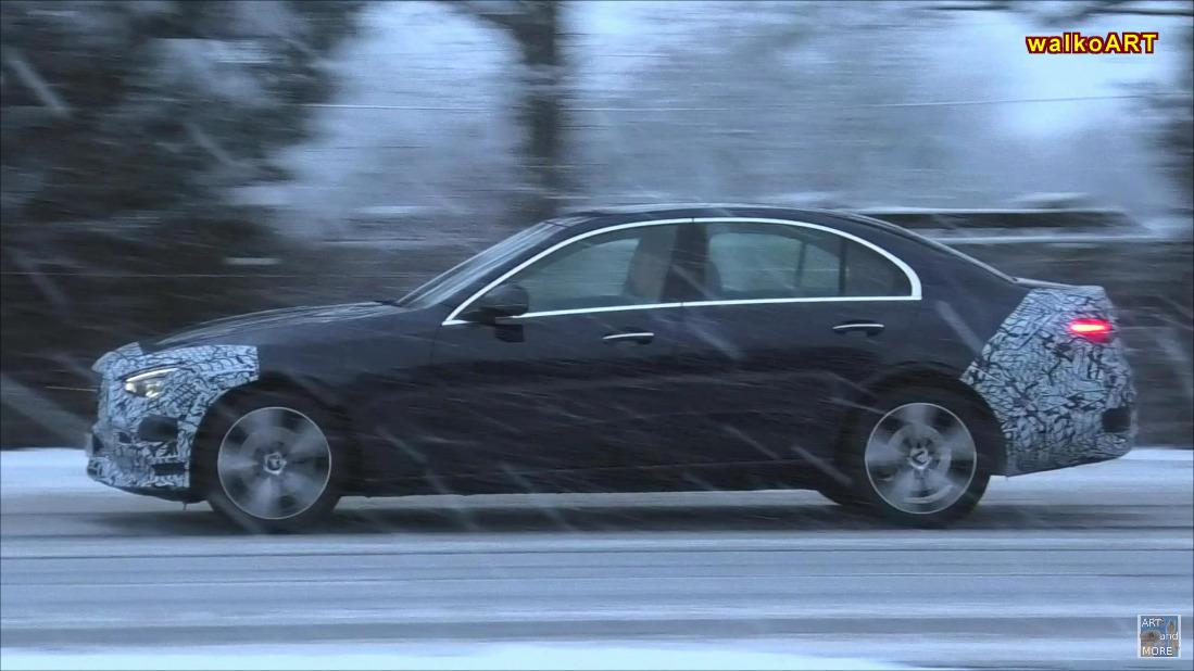 Nuova Mercedes Classe C test neve