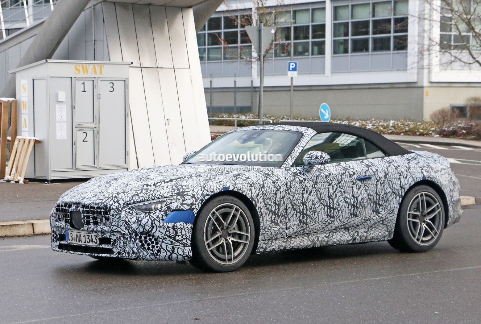 Mercedes-AMG SL 2022 ultimi prototipi foto spia