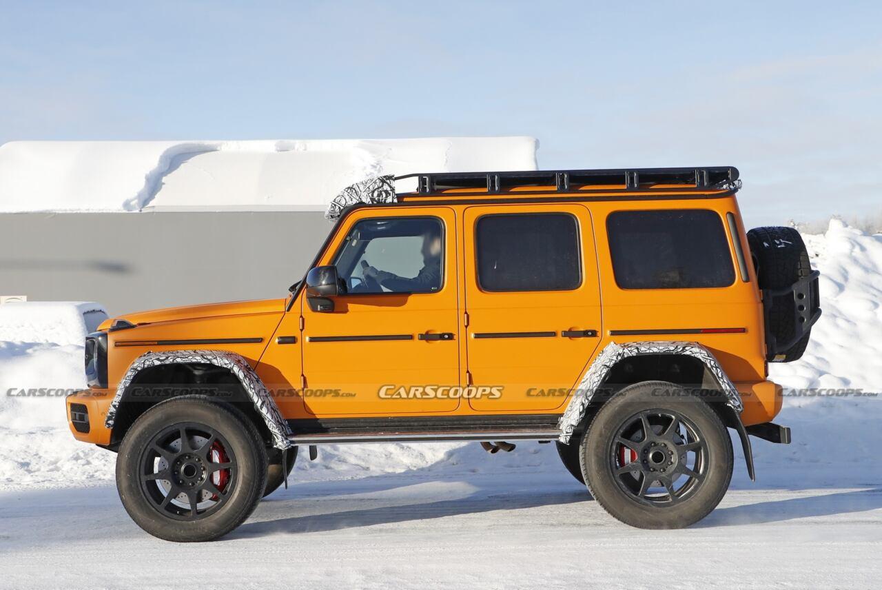 Mercedes-Benz G500 4×4² prototipo arancione Svezia