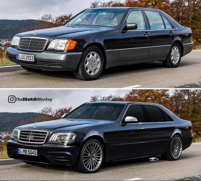 Mercedes Classe S W140 TheSketchMonkey