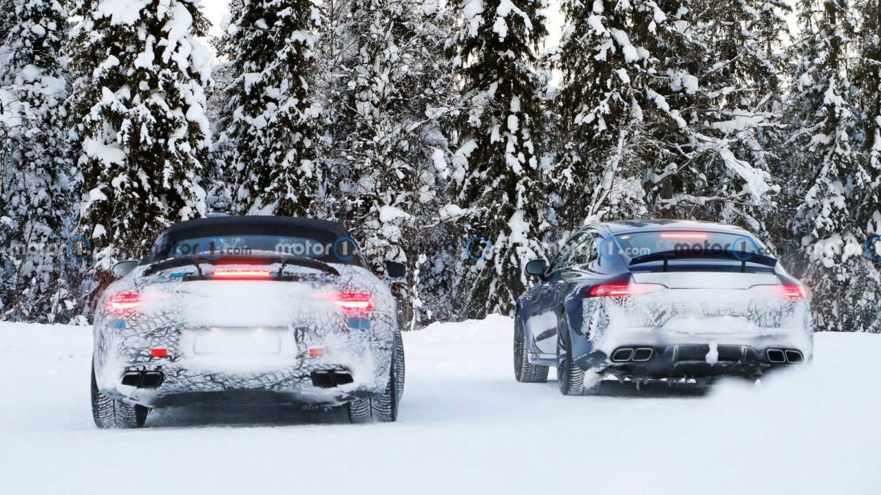 Mercedes SL 2022 foto spia Svezia