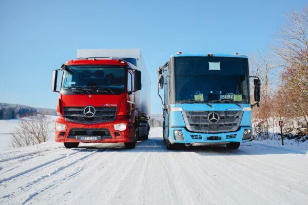 Mercedes eActros ed eEconic test invernali