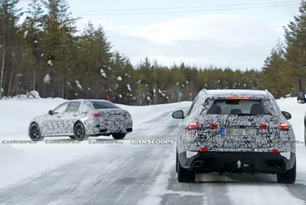 Nuove Mercedes-AMG C 63 e C 63 Wagon foto spia