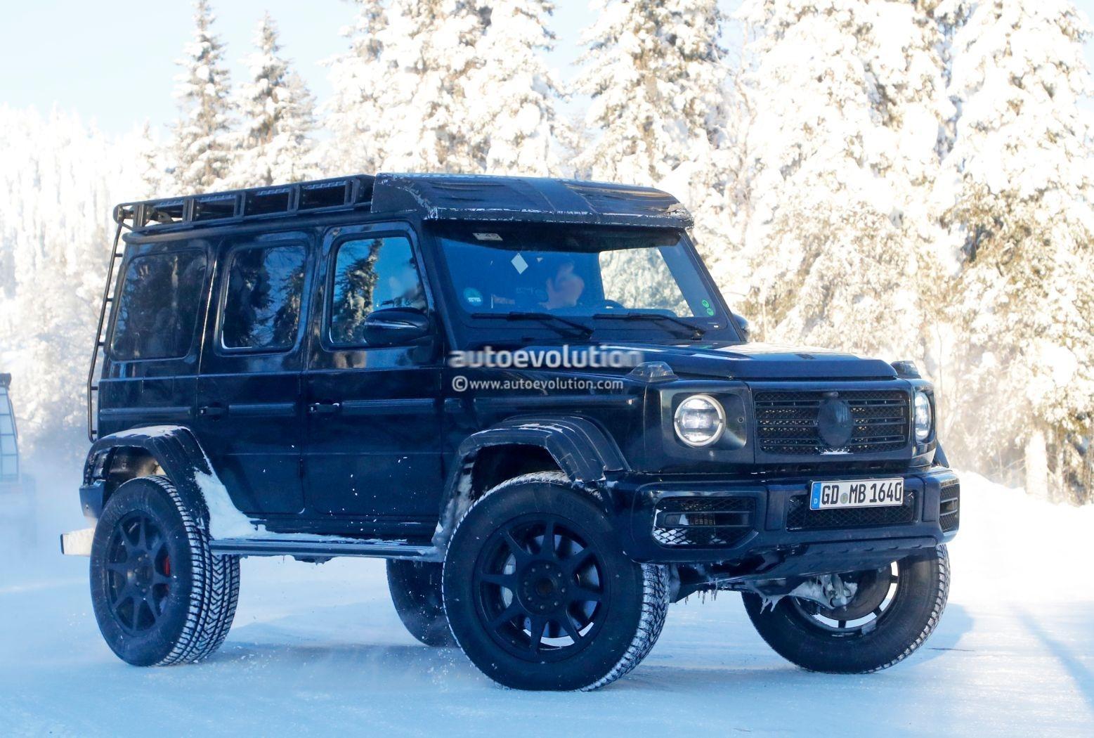 Mercedes-Benz G500 4x4² prototipi neve