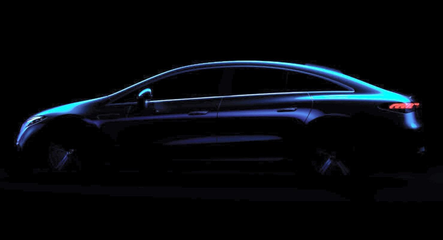Mercedes EQS profilo vettura