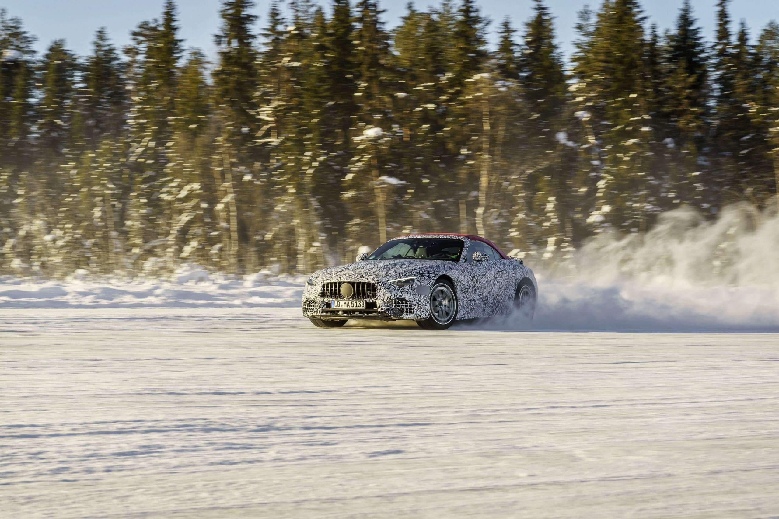 Nuova Mercedes-AMG SL test neve