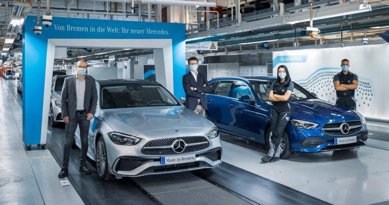 Nuova Mercedes Classe C produzione stabilimento Brema