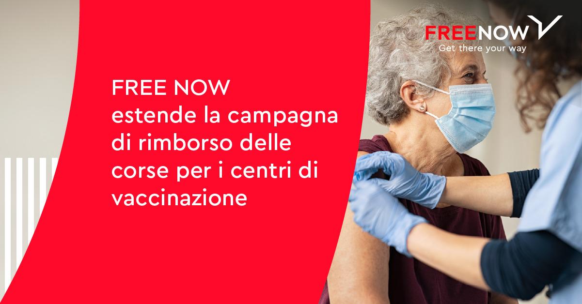 Free Now estende campagna rimborsi vaccinazione
