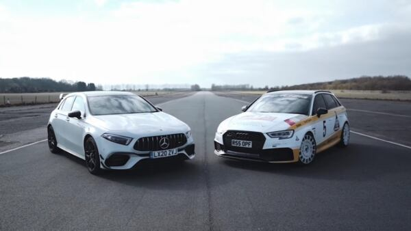 Mercedes-AMG A 45 S vs Audi RS3 Sportback drag race