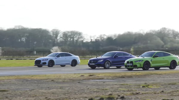 Mercedes-AMG C 63 S vs BMW M4 Competition 2021 vs Audi RS5 drag race
