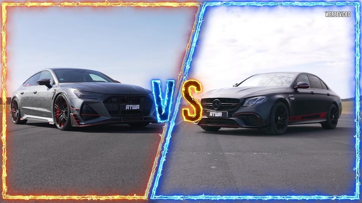 Mercedes-AMG E 63 S vs Audi RS7-R drag race