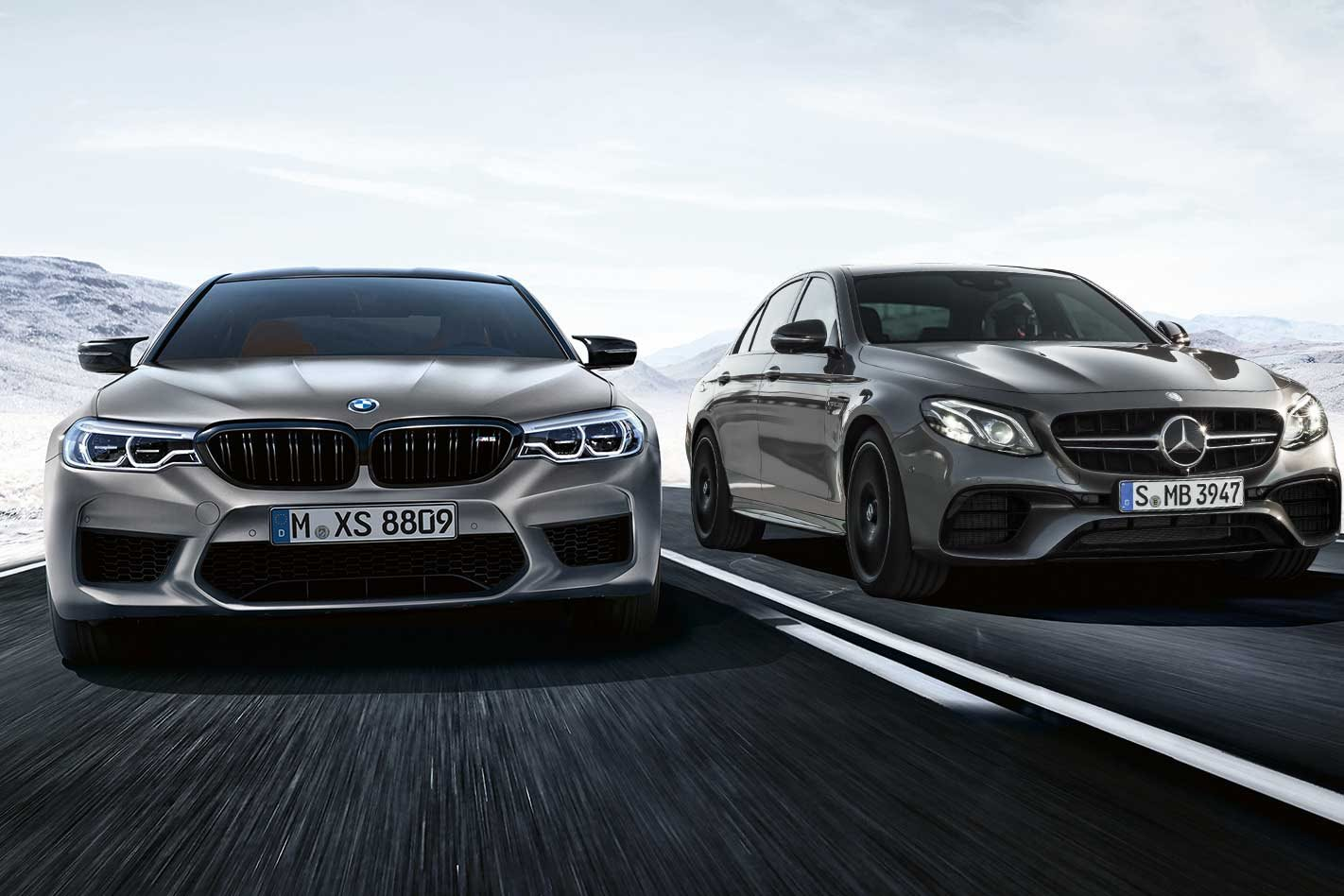 Mercedes-AMG E 63 S vs BMW M5 Competition