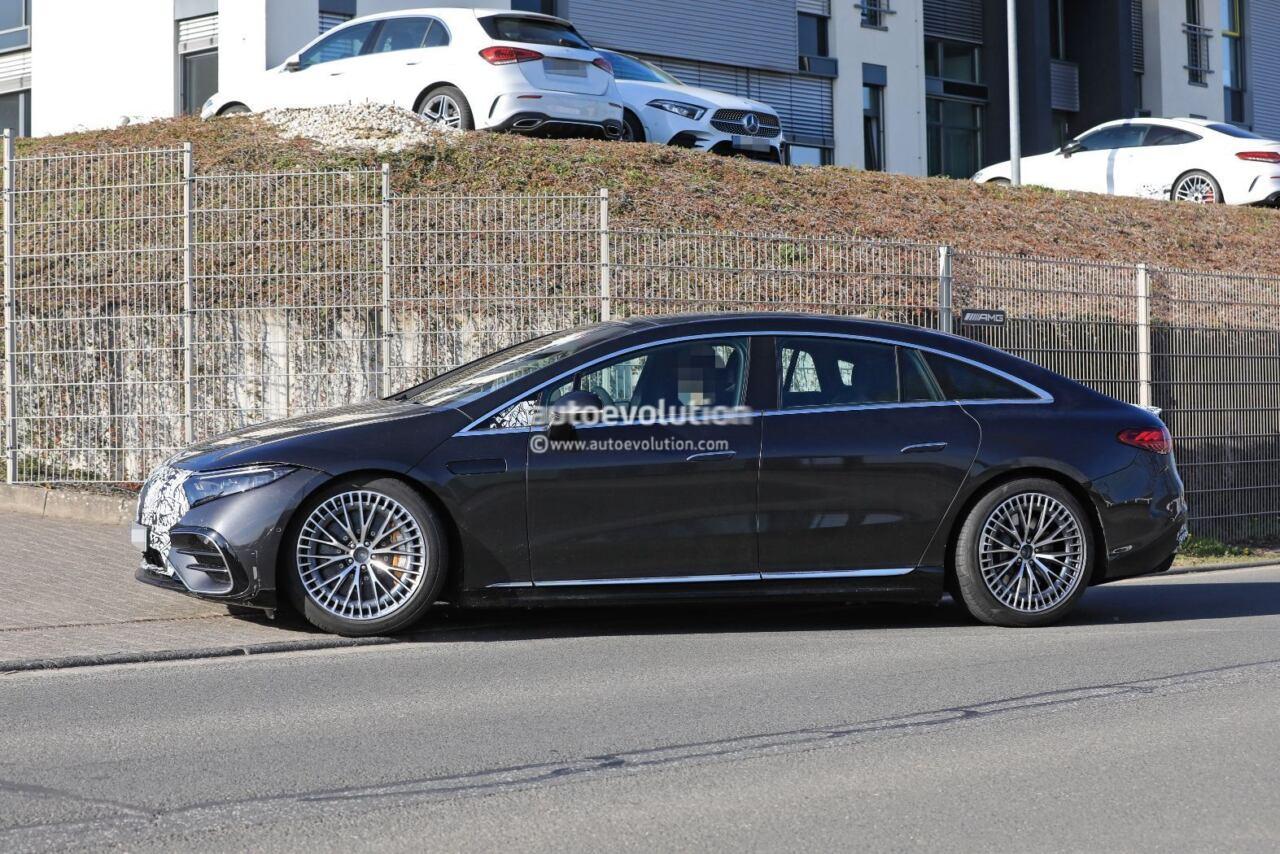 Mercedes-AMG EQS primo prototipo foto spia