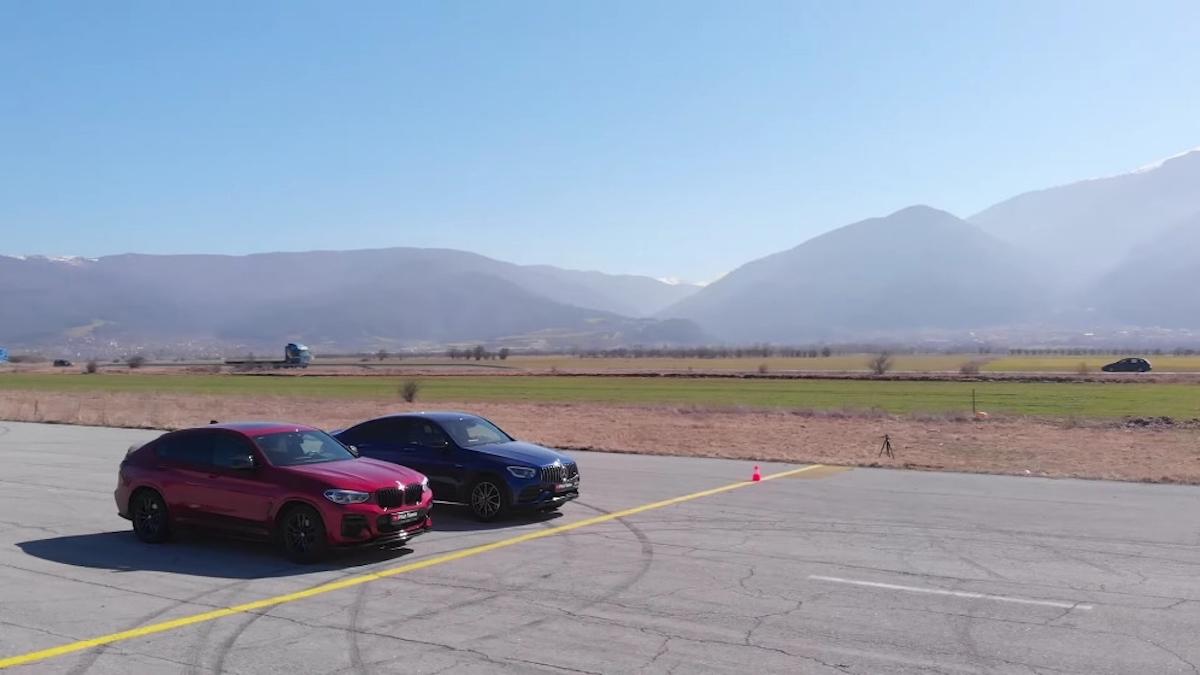 Mercedes-AMG GLC 43 vs BMW X4 M40i drag race